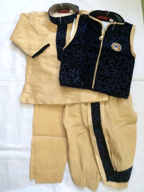 Elegant Dhoti Kurta Pajama Jacket For Newborn Boys Indian