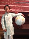 Kids Indian Clothing,Green striped Formal Kurta Pajama (KP35006)