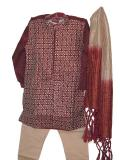 Tell me more about Readymade Kurta Pajama for Kids in Maroon & Cream Color