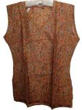 Sleeveless Cotton Silk Printed Kurti / Tunic from India