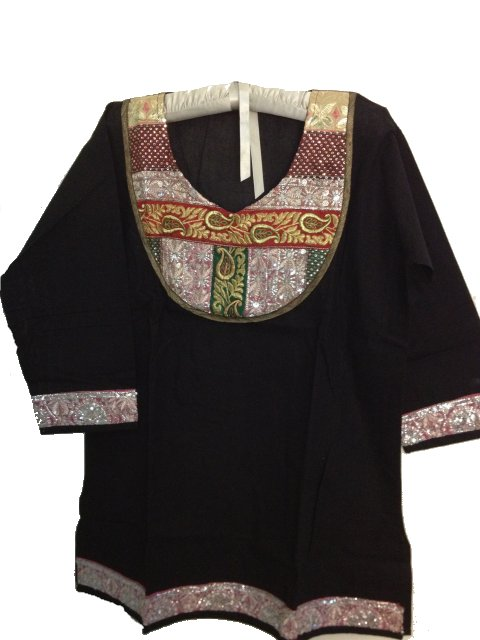 a138ca7af8f Black Cotton Plus Size Indian Kurti / Tunic For Women, INDIAN ...