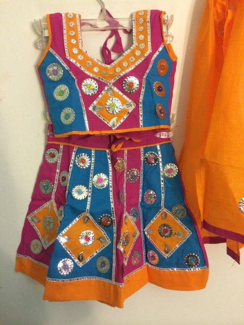 Traditional Cotton Chaniya Choli Girls Garba Outfits
