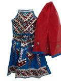 Kids Garba Dance Dress, Colorful Cotton Gujarati Lacha (GL1502)
