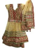 Fancy Gold Sharara Style Lehenga for Little Girls (LC45002)
