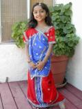 Gorgeous Traditional Red Ready-made Saree for kids (SR4002)