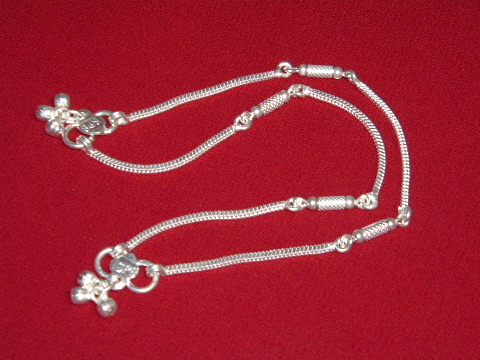 8aa33d2f526 16 Gms Indian Silver Payal   Anklet  21509