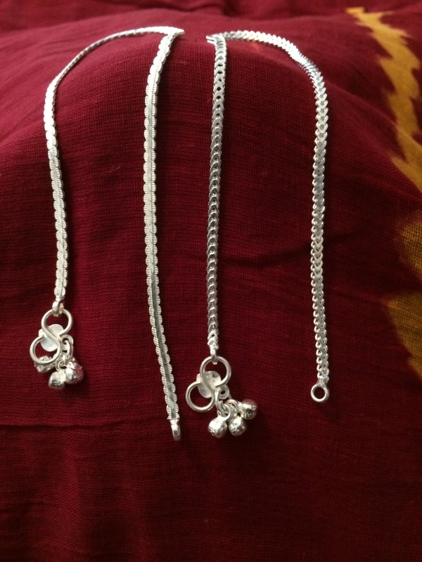 Silver Payal For Women In Traditional Indian Design, LADIES ...